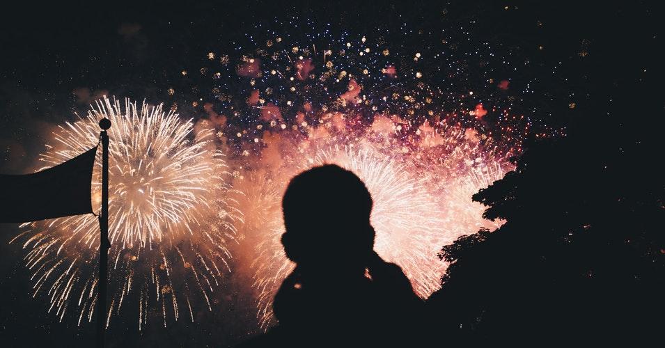 Capodanno fuochi d'artificio Venezia