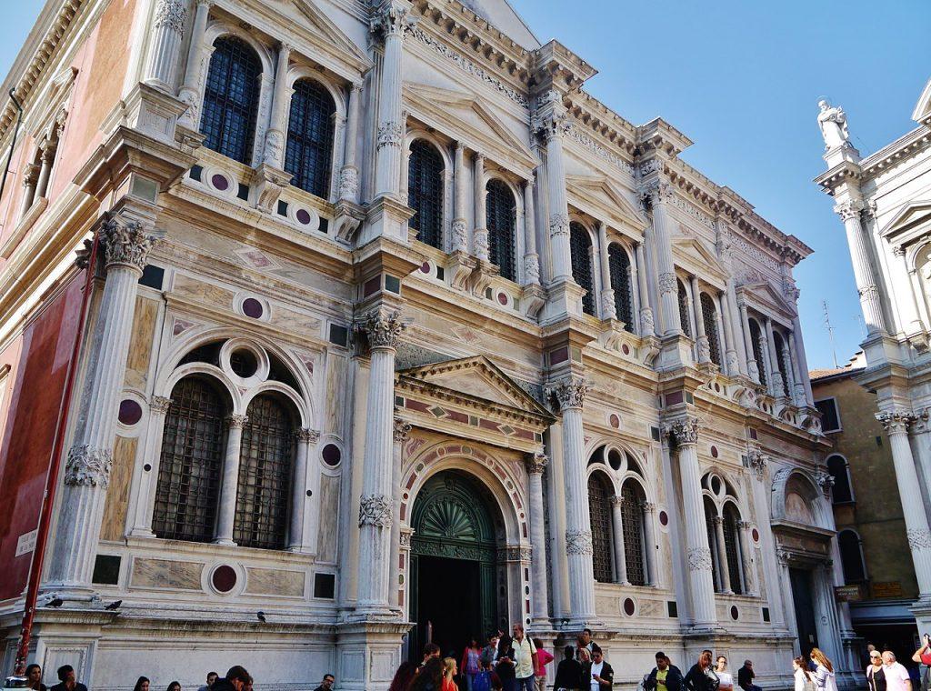 facciata scuola grande di san rocco venezia